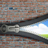 3 D zipper Stock Photo