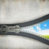 3 D zipper Stock Images