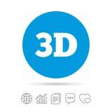 3D znaka ikona 3D nowej technologii symbol Fotografia Royalty Free