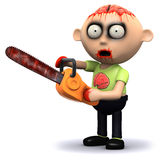 3d Zombie chainsaw Stock Photography