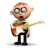 3d Zombie guitarist Stock Photography