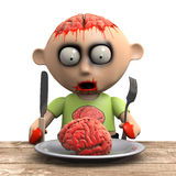 3d Zombie snack Royalty Free Stock Photos