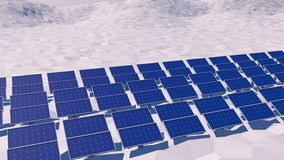 3D zonnepanelen royalty-vrije illustratie