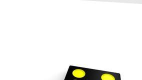3D zwarte domino's die zich tegen een witte achtergrond bevinden royalty-vrije illustratie