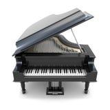 3d Zwarte grote piano Stock Afbeelding