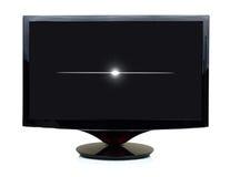 3D zwarte TV-vertoning Stock Afbeeldingen
