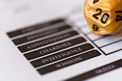 D20角色游戏的彀子 免版税库存图片