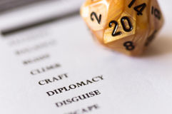 D20 dice for roleplaying game Stock Images