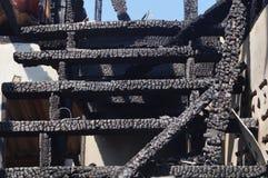 dañado por el fuego Fotos de archivo libres de regalías