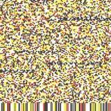 Daño único del vídeo del error de la interferencia del ruido del pixel de Digitaces del extracto del diseño foto de archivo