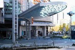 Daño colateral de la bomba a la alameda de compras Imagen de archivo libre de regalías