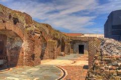 Daño de batalla de Sumter de la fortaleza Fotografía de archivo libre de regalías
