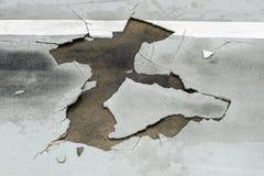 Daño de camino Imagen de archivo libre de regalías