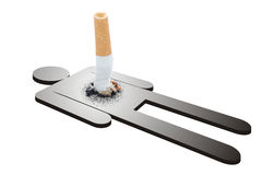 Daño de fumar Imagenes de archivo