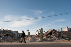 Daño de guerra de Gaza Fotos de archivo