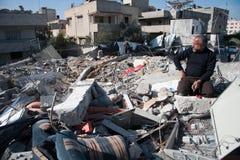 Daño de guerra de Gaza imágenes de archivo libres de regalías