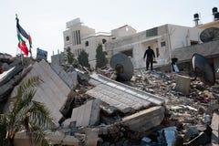 Daño de guerra de Gaza imagen de archivo libre de regalías