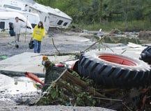Daño de inundación Berlín Vermont: Huracán Irene Imagenes de archivo