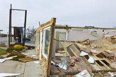 Daño X de la tormenta del tornado fotos de archivo