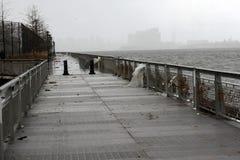 Daño de NYC - huracán Sandy Fotografía de archivo libre de regalías