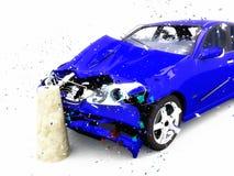 Daño del coche Imagen de archivo libre de regalías