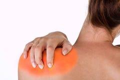 Daño del cuello y del hombro Fotografía de archivo