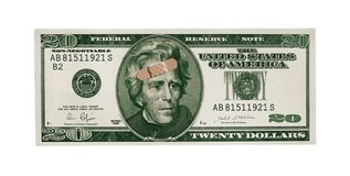 Daño del dólar Imagenes de archivo