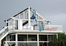 Daño del huracán imagenes de archivo