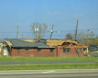 Daño del huracán Fotografía de archivo