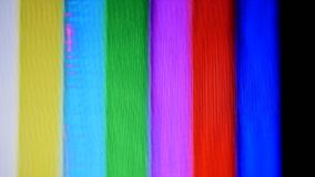 Daño del modelo de prueba de las barras de color de la cinta de VHS almacen de video