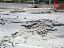 Daño del terremoto Imagen de archivo libre de regalías