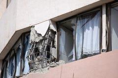 Daño del terremoto de Chile Foto de archivo libre de regalías