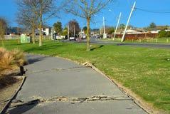 Daño del terremoto de Nueva Zelandia Imágenes de archivo libres de regalías