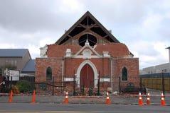 Daño del terremoto de Nueva Zelandia foto de archivo