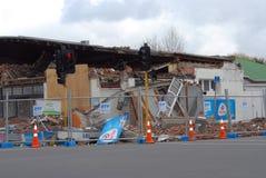 Daño del terremoto de Nueva Zelandia Fotos de archivo libres de regalías