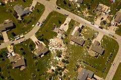 Daño del tornado Fotografía de archivo libre de regalías