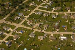 Daño del tornado Fotografía de archivo