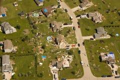 Daño del tornado Imagenes de archivo