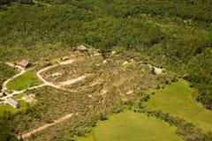 Daño del tornado Fotos de archivo