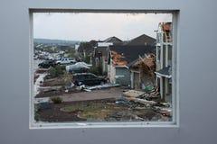 Daño del tornado Foto de archivo