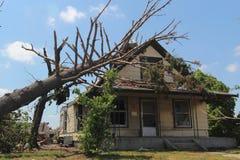 Daño del tornado imagen de archivo libre de regalías