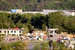 Daño del tornado de Ringgod Georgia fotos de archivo libres de regalías