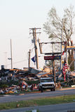 Daño del tornado de Ringgod Georgia imágenes de archivo libres de regalías