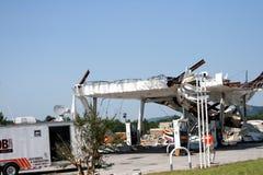 Daño del tornado de Ringgod Georgia Fotografía de archivo