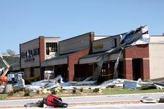 Daño del tornado de Ringgod Georgia Fotos de archivo