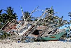 Daño después del tifón fotografía de archivo libre de regalías