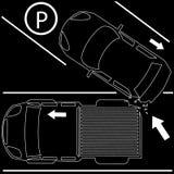 Daño detrás causado de la colisión del apretón del coche Foto de archivo libre de regalías