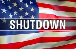 Daño económico de los E.E.U.U. del cierre, representación 3d Cierres del gobierno en los Estados Unidos Política de Estados Unido ilustración del vector