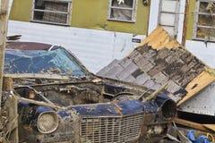 Daño I de la tormenta del tornado imagen de archivo libre de regalías