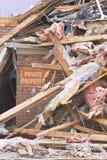 Daño II de la tormenta del tornado imagenes de archivo